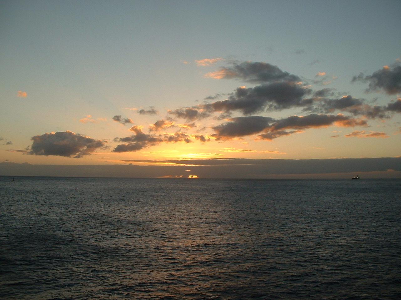 ハワイの夕陽 2002年